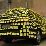 全車貼滿愛意便條紙也能成功求婚