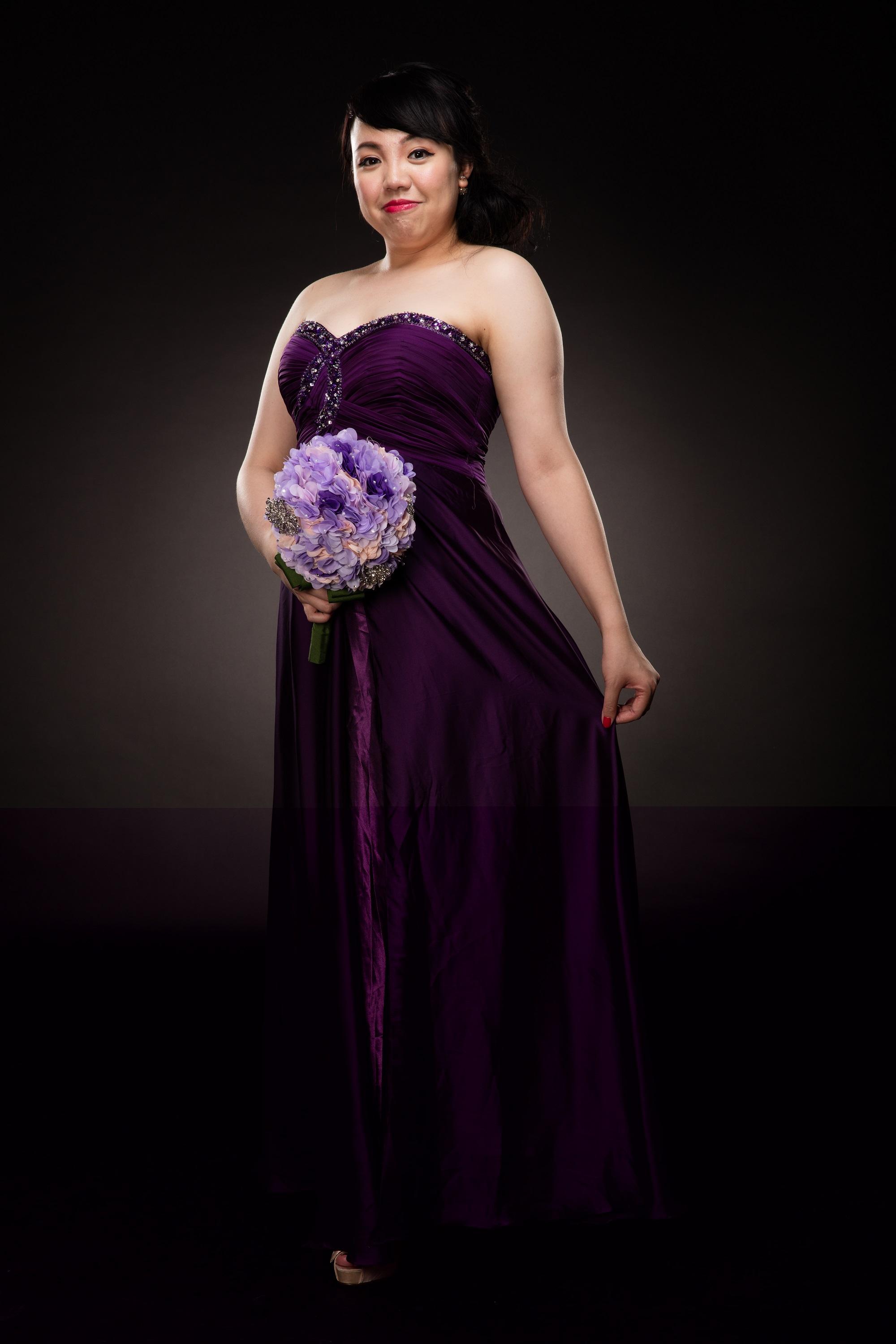 HW Bridal提供自家設計服務,微胖新娘可來圖度身訂造自己喜歡或設計的婚紗